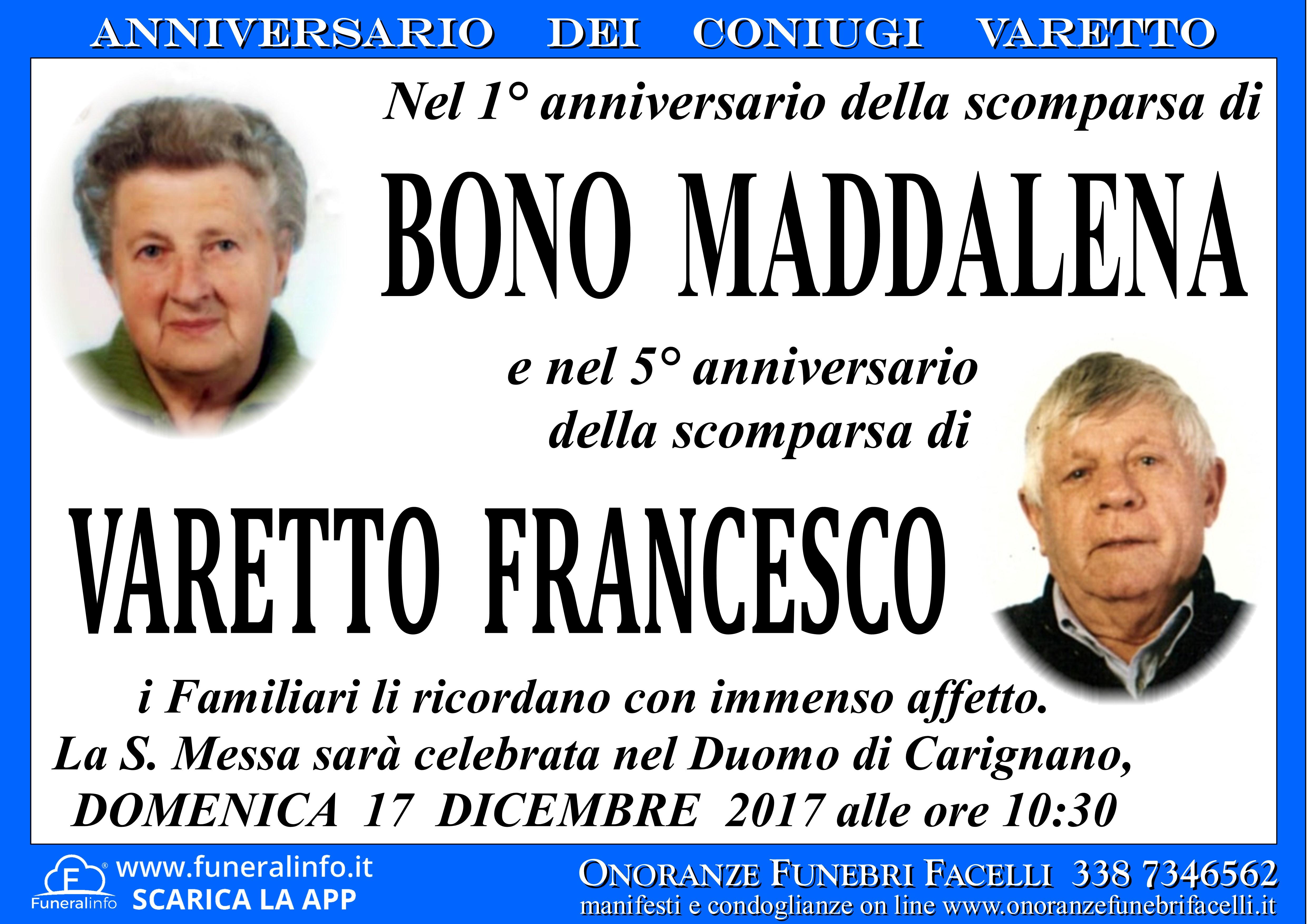Top ANNIVERSARIO dei CONIUGI VARETTO - Onoranze Funebri Facelli WR61